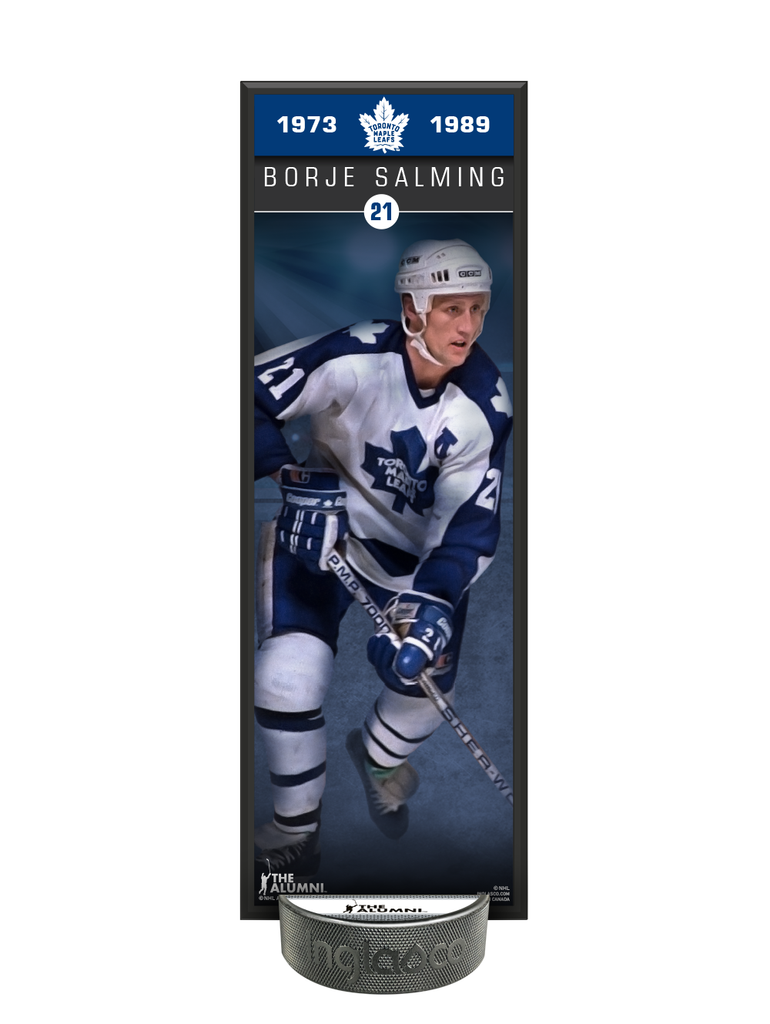 NHLAA Alumni Borje Salming Toronto Maple Leafs Deco Plaque And Hockey Puck Holder Set