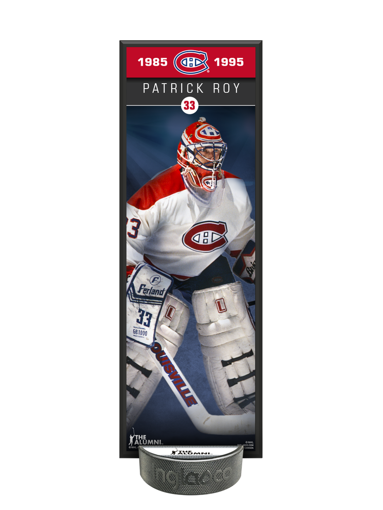 NHLAA Alumni Patrick Roy Montreal Canadiens Deco Plaque And Hockey Puck Holder Set