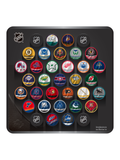 NHL Hockey Puck Wall Plaque. All 31 NHL Team Reverse Retro Jersey Collector Pucks + 4 NHL Shield Hockey Pucks