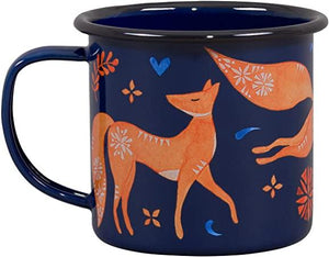 Fox Enamel Mug
