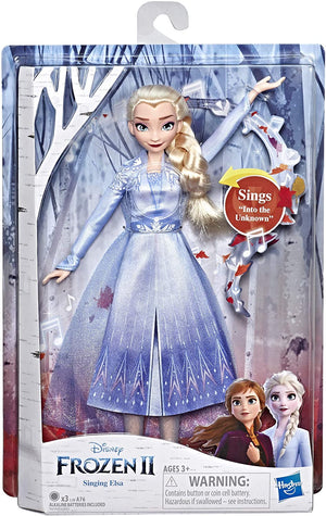 Disney Frozen 2 Singing Elsa Doll with Blue Dress