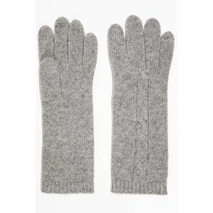 Portolano - Cashmere Cable Gloves Light - Grey