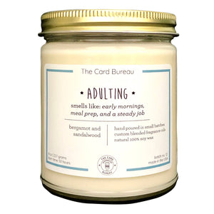 The Card Bureau - 8 oz Adulting Soy Candle