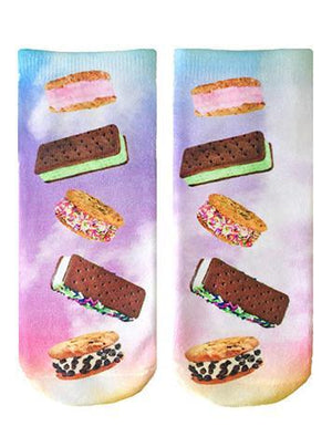 Living Royal Ice Cream Sandwiches Ankle Socks