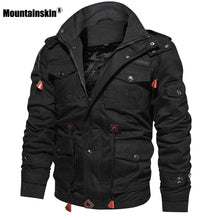 Load image into Gallery viewer, Men's Winter Fleece Jackets Hooded Coat Thermal