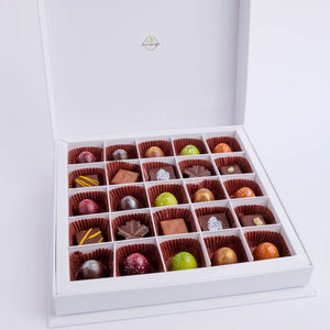 Coffret de 25 chocolats assortis