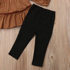 Brown Pleated Set