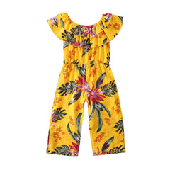Floral Yellow Jumpsuit