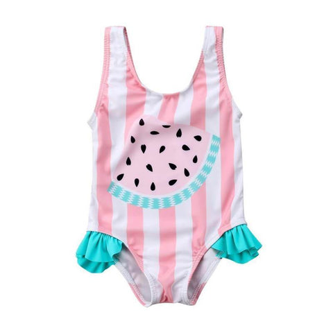 Striped Watermelon Swimsuit