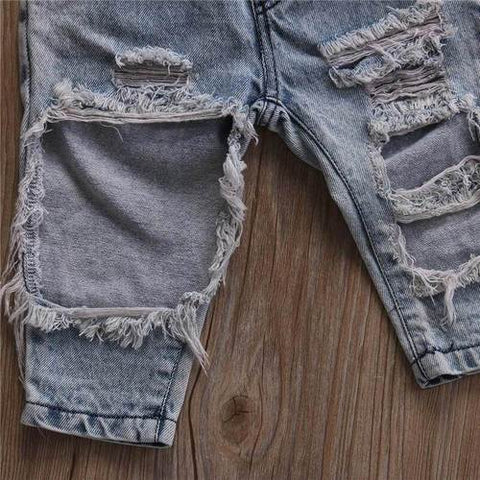 Acid Wash Ripped Jeans