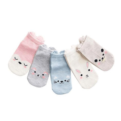5 Pairs Animal Socks