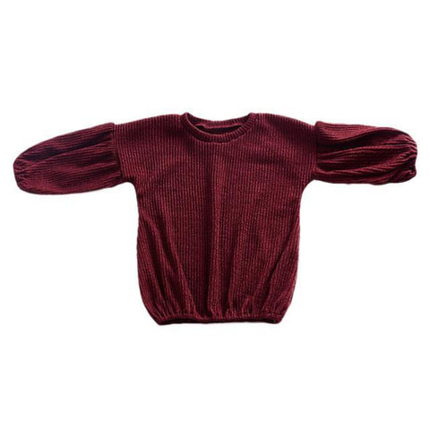 Red Wine Knit Sweater
