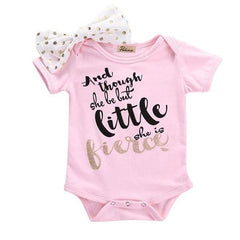 Pink Bow Knot Bodysuit