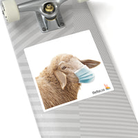 Masked sheep square sticker