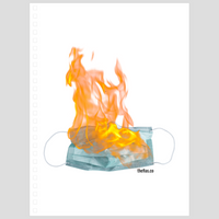 flaming mask notebook