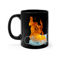 black flaming mask mug (11oz)