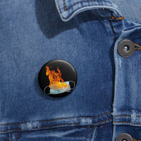 flaming mask pin