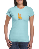 Flaming mask women's tee.