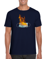 Flaming mask unisex tee