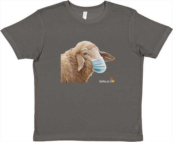 Masked sheep kids tee