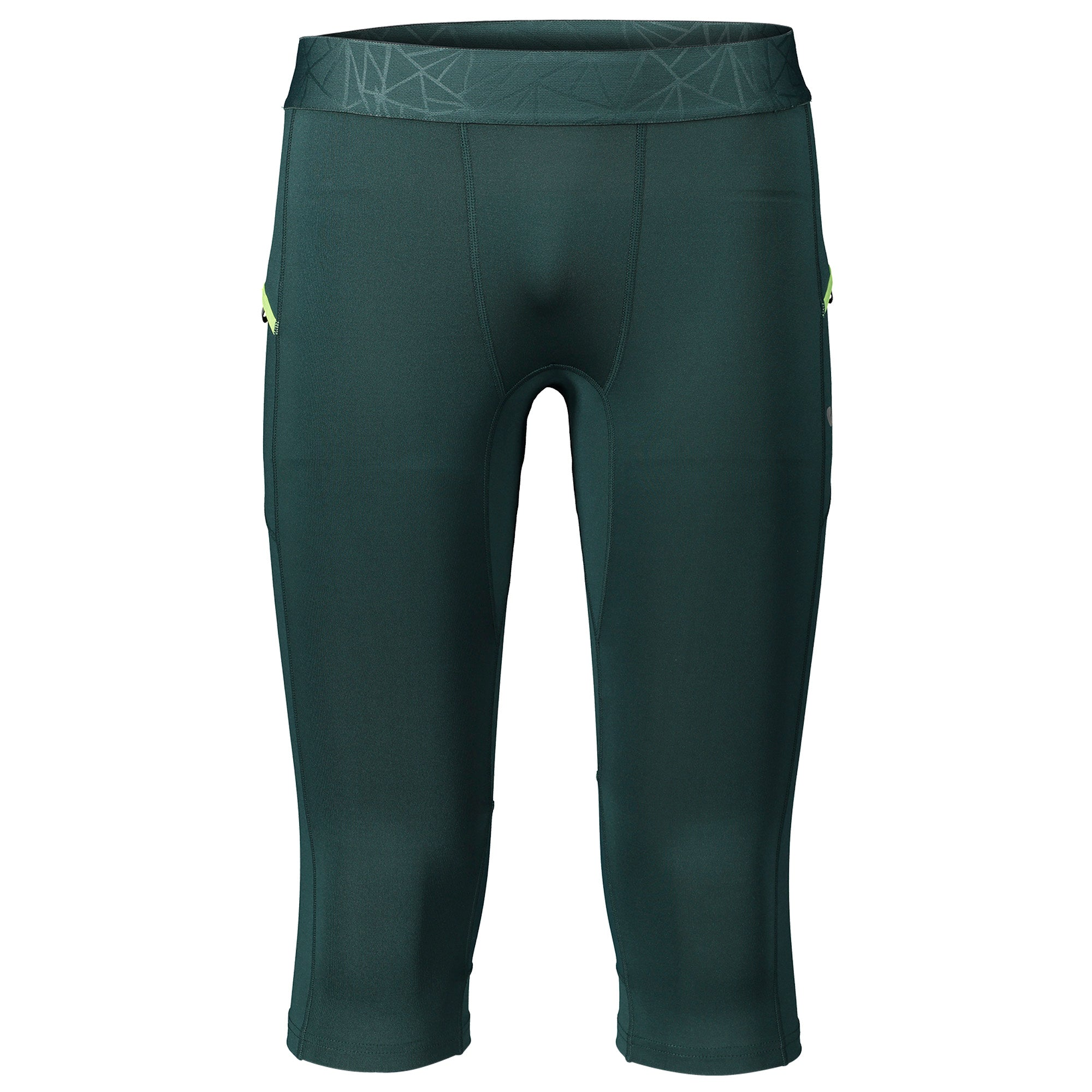 Pantalone Pirata Running Flash Verde