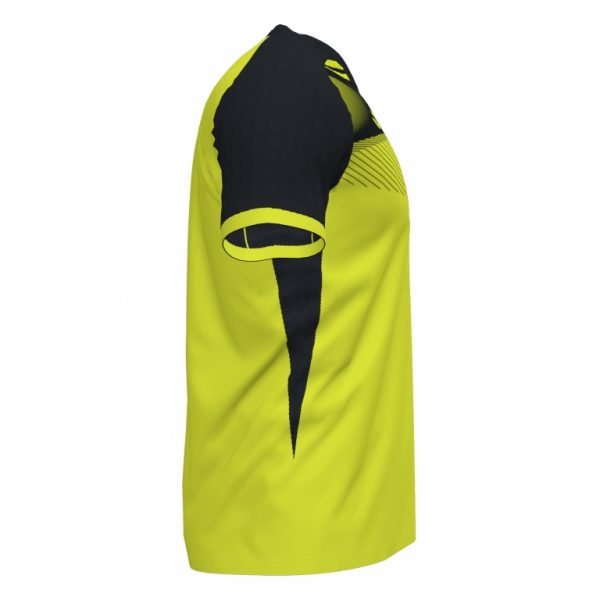 T-shirt Supernova Giallo F-nero m/c
