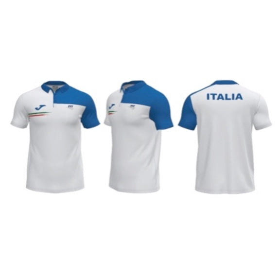 Polo Fed. Italiana Tennis Bianco-Blu