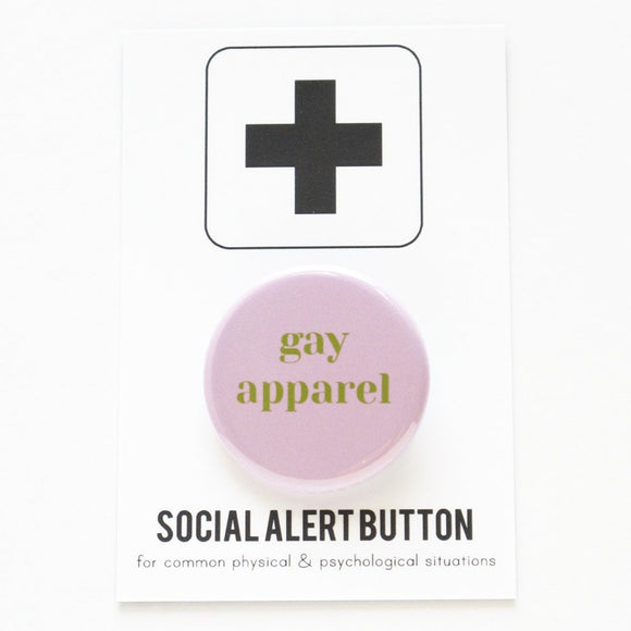 GAY APPAREL <br> Holiday Pinback Button