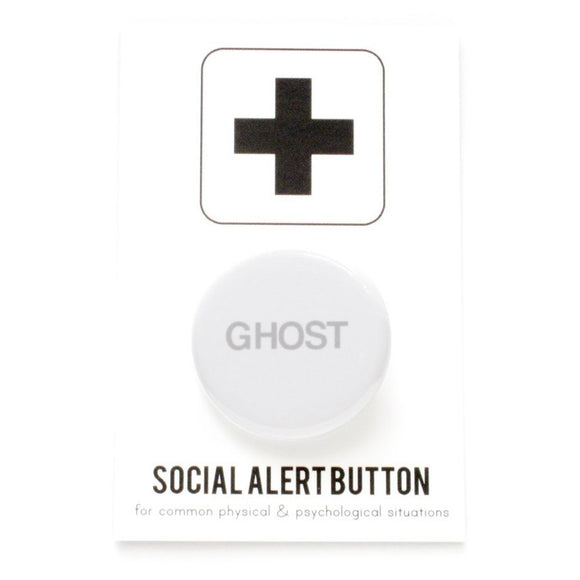 GHOST <br> Pinback Button