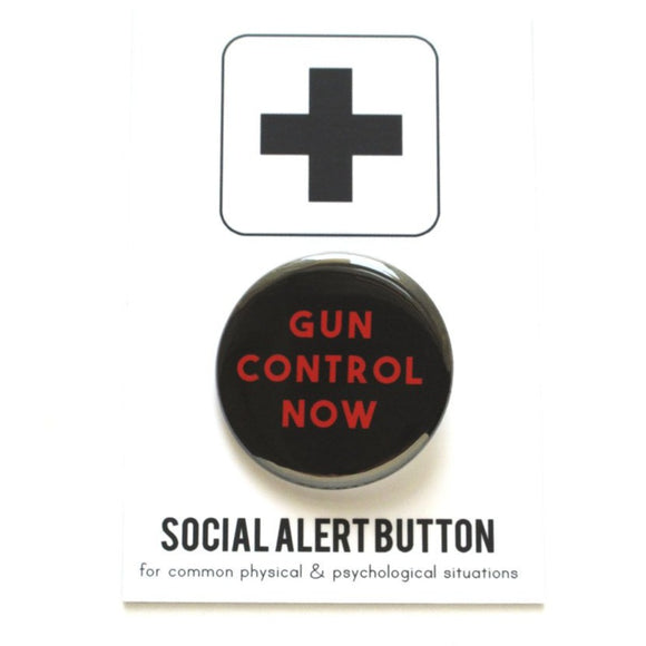 GUN CONTROL NOW <br> Pinback Button