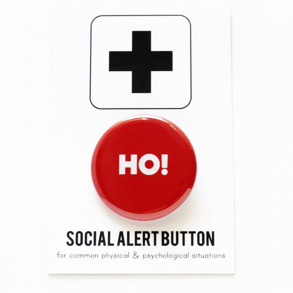 HO! <br> Holiday Pinback Button