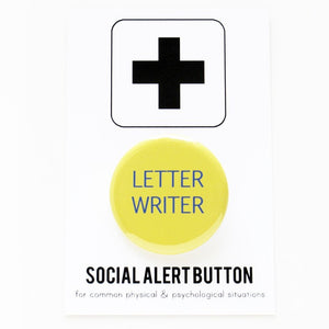 LETTER WRITER <br> Pinback Button