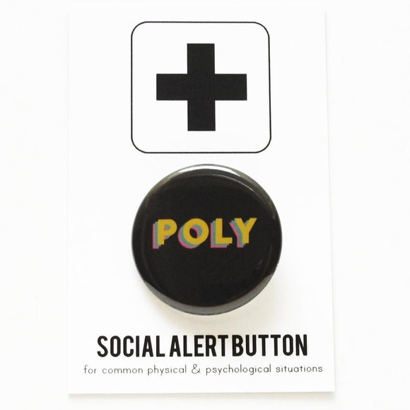 POLY <br> Pinback Button