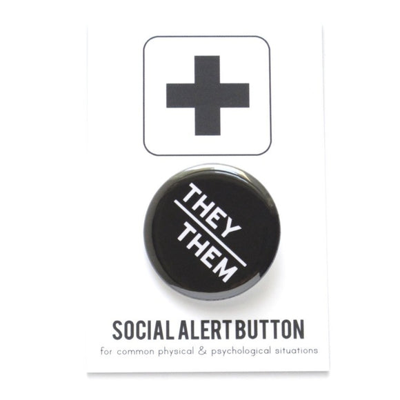 THEY/THEM <br> Pinback Button