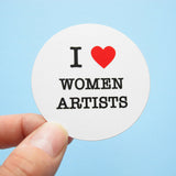I HEART WOMEN ARTISTS <br> Sticker