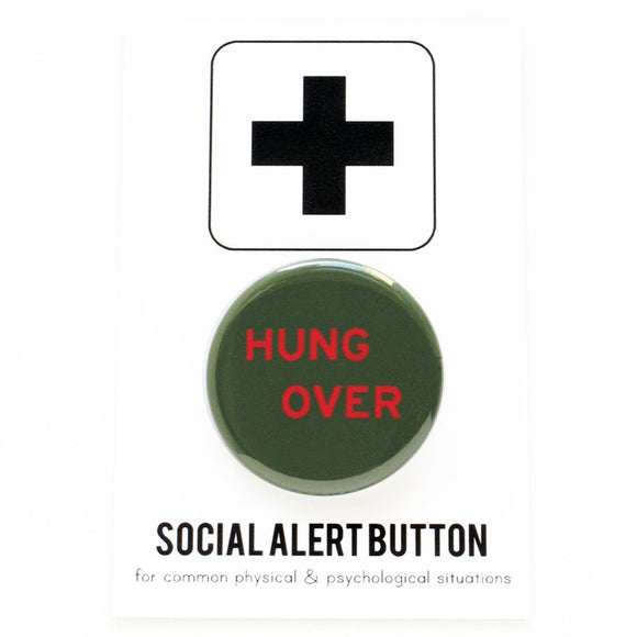 HUNGOVER <br> Holiday Pinback Button