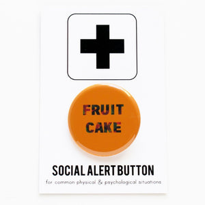 FRUIT CAKE <br> Holiday Pinback Button