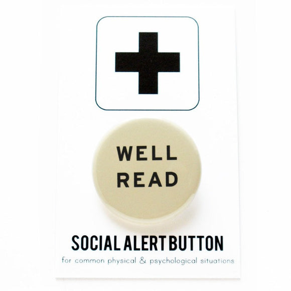 WELL READ <br> Pinback Button