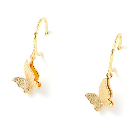 Butterfly C-Hoop Earrings