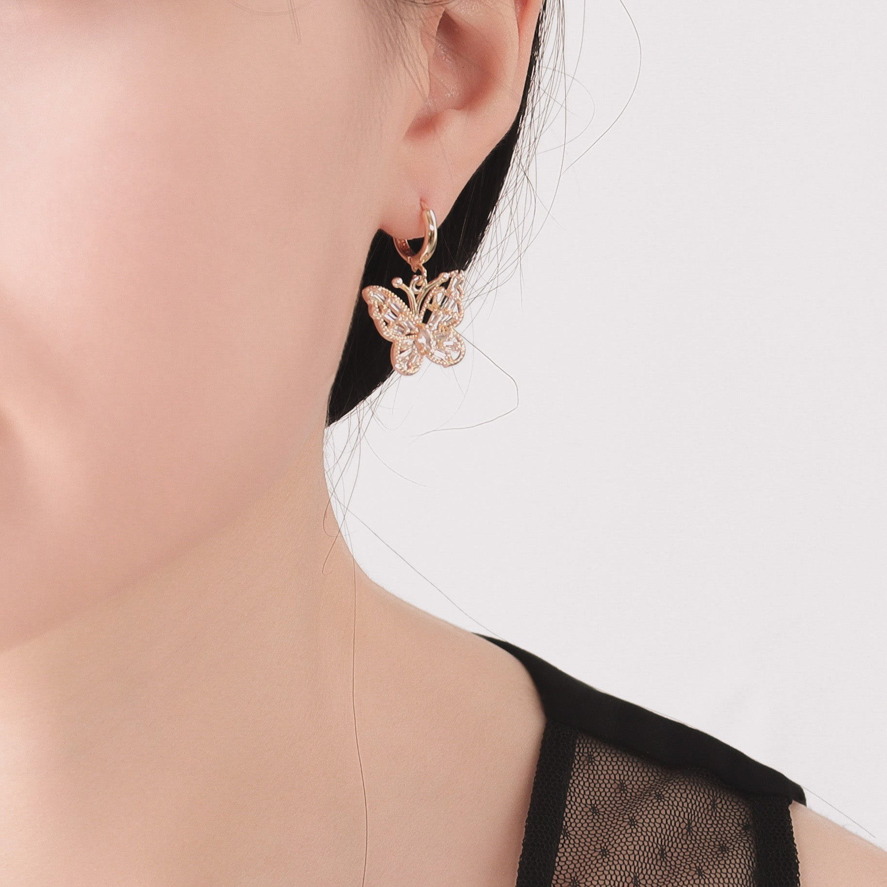 Lepidoptera Huggies Earrings