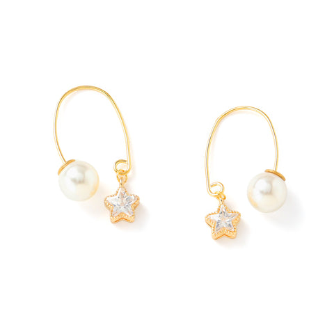 Cavalin Pearl Gold Earrings