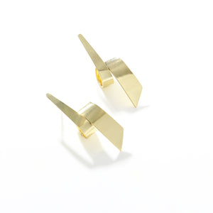 Irregular Ribbon Gold Earrings