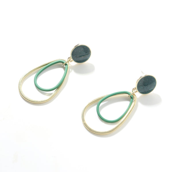 Elegantly Green Irregular Earrings