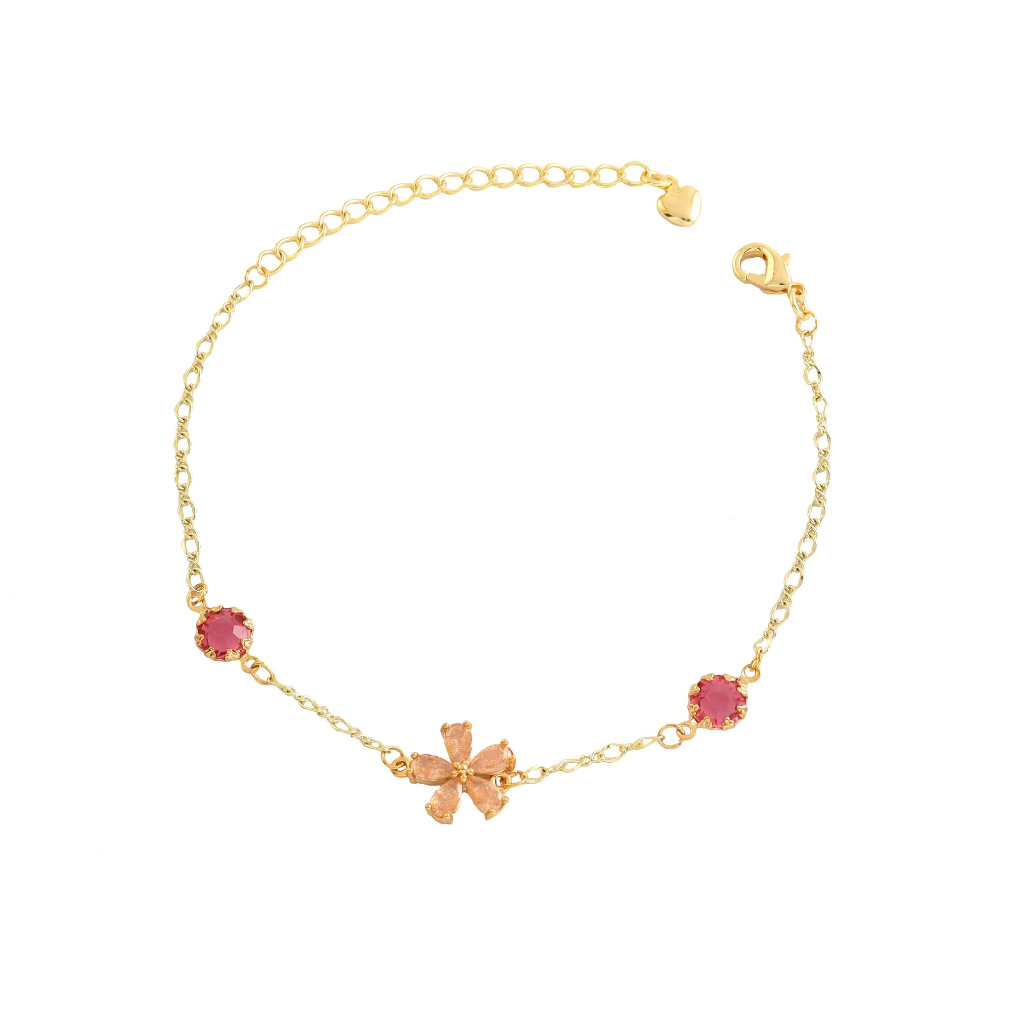 Cherry Bloosom Gold Bracelet
