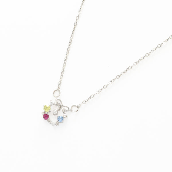 Silver Flower Circlet Necklace