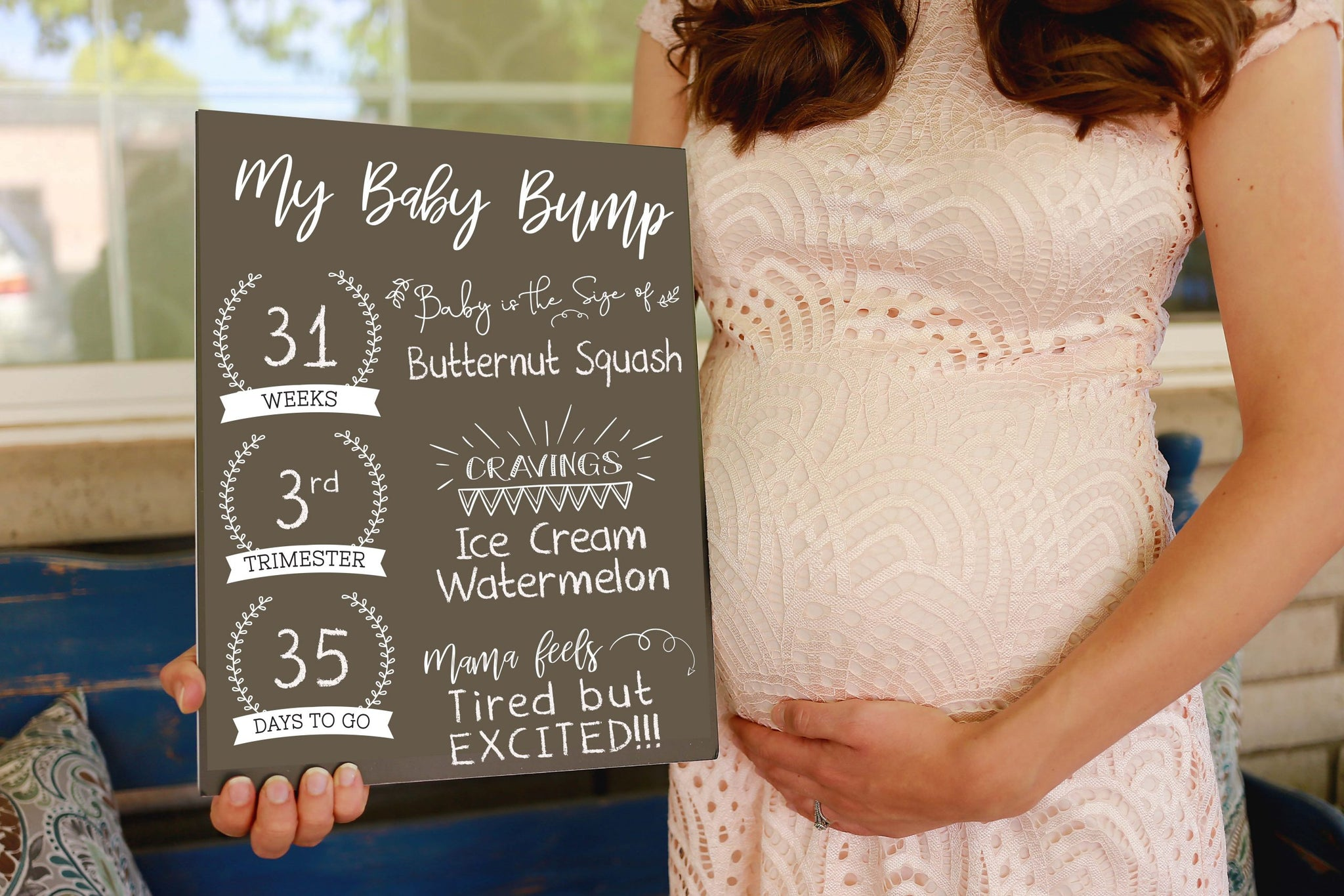 Reusable Sign - Pregnancy Milestone
