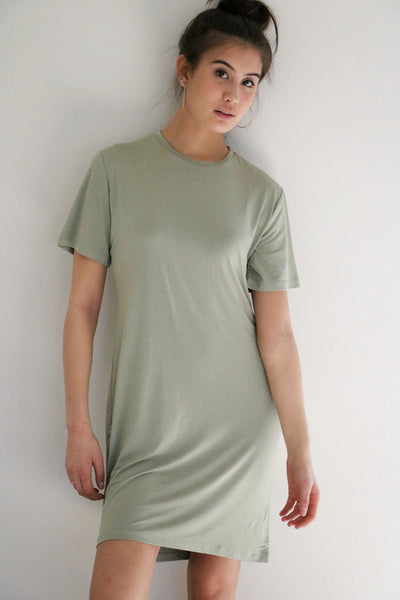 Elevated T-Shirt Dress (Crew Neck)