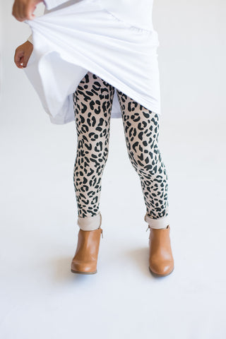 Tiny Button - Leggings Leopard