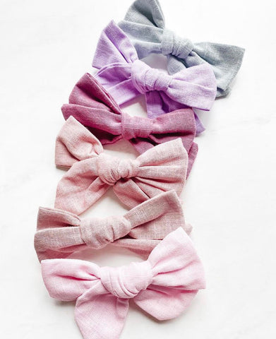 Bubba's and Mama's - Linen Bow Clips