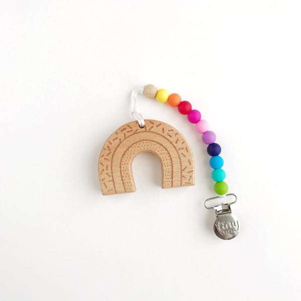 Tiny Inspirations - Teether + Clip - Rainbow
